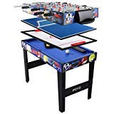 AIPINQI Multifonctions 4 en 1 Combo Jeu de Table, Table de Billard, Table de babyfoot, Hockey de Table, Table de Tennis de Table, 31.5in