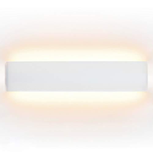 ELINKUME 14W Aluminium Acryl Moderne LED-Wandleuchte 85-265V Up Down Moderne Wandlampen Innen mit 70 LEDs 2835 1540 Lumen Warmweiß -