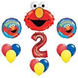Elmo Sesame Street #2 2nd Second Birthday Party Supply Balloon Mylar Latex Set by ()