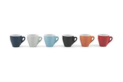 Galileo Casa Color Set Tazzine da caffè, Porcellana, Multicolore, 6 Pezzi, 6 unità