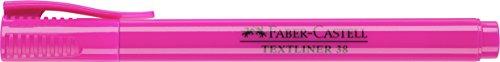Faber-Castell 157728 – Caja con 10 marcadores fluorescentes Textliner 38, color rosa
