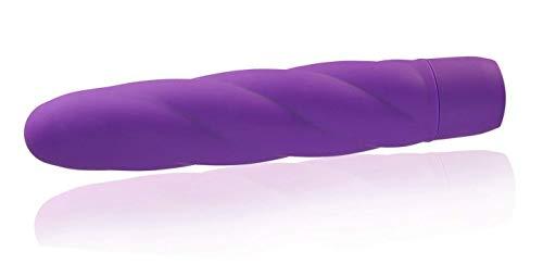 Deluxe Silikon Vibrator Twist aus Vollsilikon mit 10 Programmen - 7