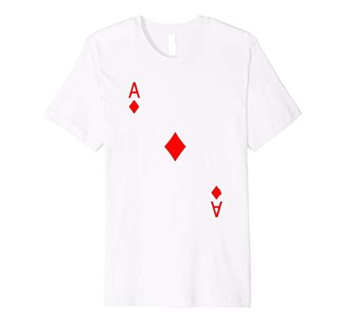 Ace von Diamant Spielkarte Hemd Halloween Kostüm T Shirt
