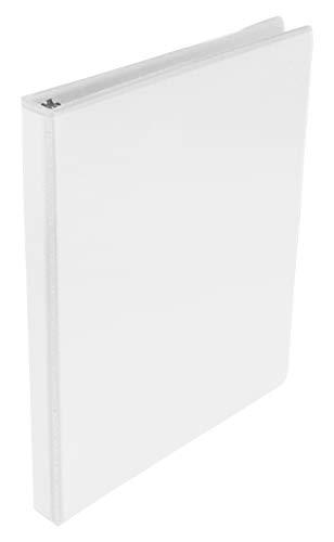 Schule smart 1439109rund Ring View Binder, 1/5,1cm weiß