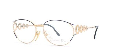 Christian Dior Damen Brillengestell Schwarz Black Gold (Christian Dior Eyeglasses Black)
