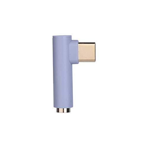 AUX Audio-Kabel-Kopfhörer-Adapter-Typ C auf 3,5-mm-Klinkenkopfhörer-Kabel für Huawei Mate 10 P20 Xiaomi Mi 6 Letv 2 2 Pro, Grau (1 Ft-audio-kabel)