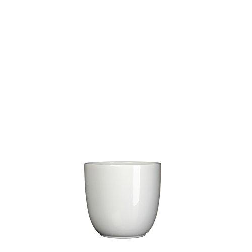 MICA Decorations 144682 Tusca Cache-Pot en céramique l'intérieur, Céramique, Blanc, 10 x 10 x 9 cm