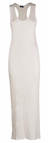 BLISSRETAIL ärmelloses Jersey-Damenkleid Gr. 38, gebrochenes weiß