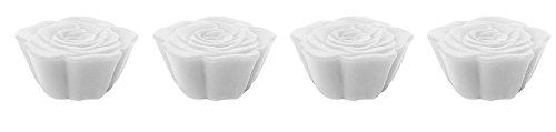 Zak Designs 1313-520 Jacks Rose Boite de 4 Dessous de Plats Modulables Rose Blanc
