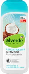 alverde NATURKOSMETIK Shampoo Feuchtigkeit, 1 x 200 ml
