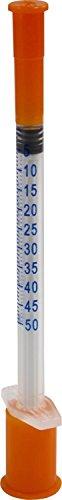 Insulinspritzen U 50 einzeln steril verpackt , Menge der Einmalspritzen nach Auswahl von Romed Medical (10 Stück U 50)