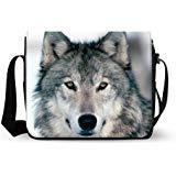 Cool Wolf Oxford Fabric Messenger Cross Body Shoulder Bag Travel Bag