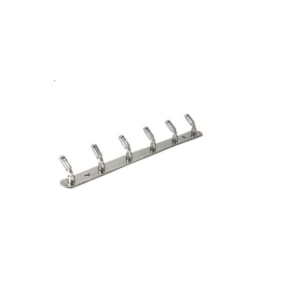 SBD Pure Stainless Steel Hook Plate/Hook Patti Coat Bath Towel Hook Hanger Rail Set (6 Leg)