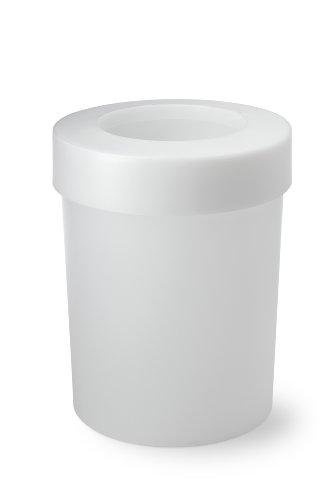 Authentics 1026728 Corbeille à papier Blanc transparent Diamètre 30,5 cm 20 l