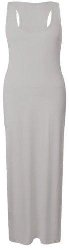 nuevo monedero más el tamaño espalda deportiva maxi vestido maxi jersey chaleco muscular vestido Crème