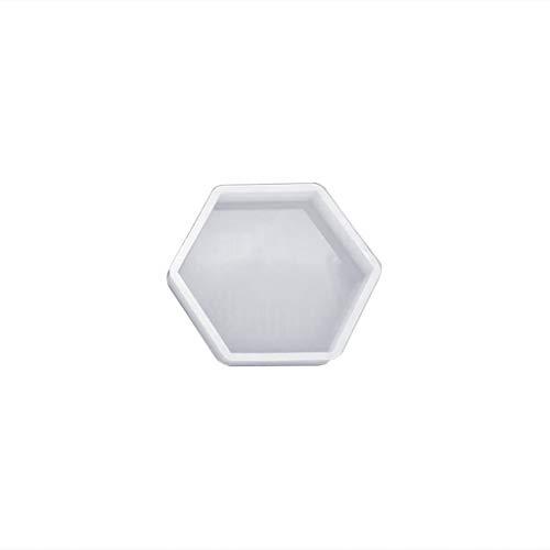 zijianzzzj DIY Silikonform DIY Kristall Epoxidharz Formen DIY Schmuck Herstellung Dekoration Tisch Silica Crafts Geschenke Kuchen Werkzeuge Handarbeit Geometrische Form Hexagon Herz achteckig
