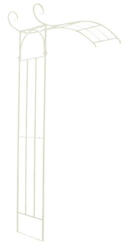 PEGANE Arche à Rosiers en Fer Coloris crème Antique - 230 x 155 x 40 cm