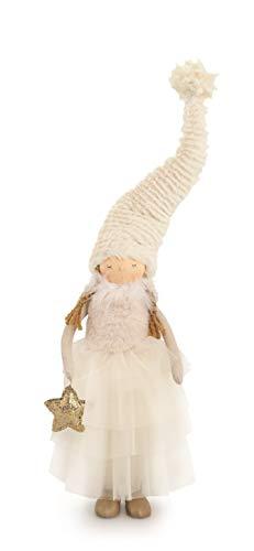 tono su tono muñeca Blanca Estrellas y alas Decorativas 26110 52 cm
