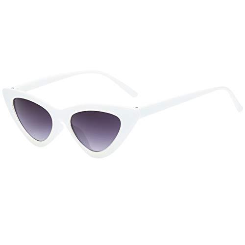 Battnot Sonnenbrille für Damen Herren, Vintage Unisex Katzenauge Schutz vor Radioaktivität Mode Brillen Männer Frauen Billig Retrostil Weinlese Cat Eye Sunglasses Super Coole Travel Eyewear