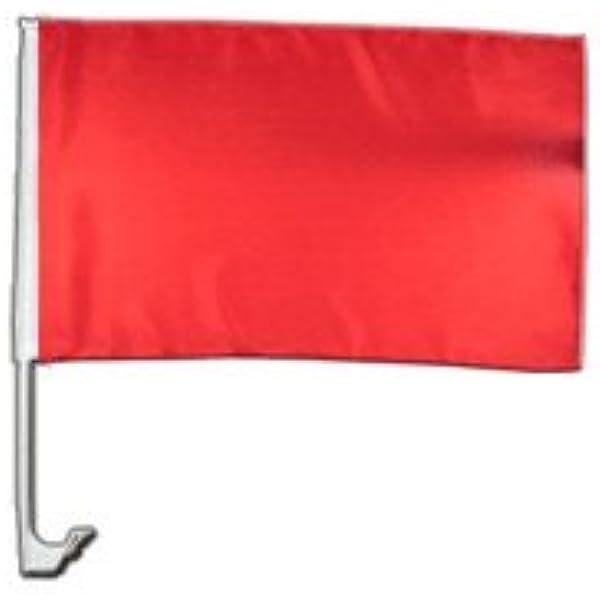 Autofahne Autoflagge Einfarbig Rot 30 X 40 Cm Sport Freizeit