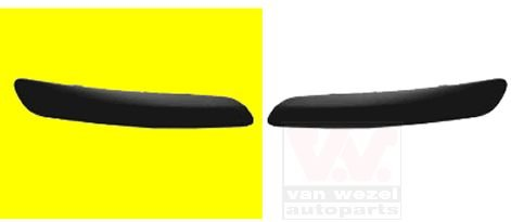 Van Wezel 5895582 Profile ou CTC Pare-choc droit, Noir