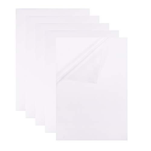 BENECREAT 10 PCS Fogli Adesivi con Supporto Adesivo, Carta PVC Trasparente A4 Adatta per Macchine da Taglio Laser e fustellatura, Etichetta Alimentare e Decoro 29,7x21 cm