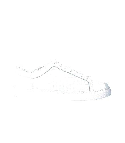 SUNCOO Damen Schuhe Sneaker Low-Top Freizeitschuhe - Glattleder Leder weiss blanc casse 40