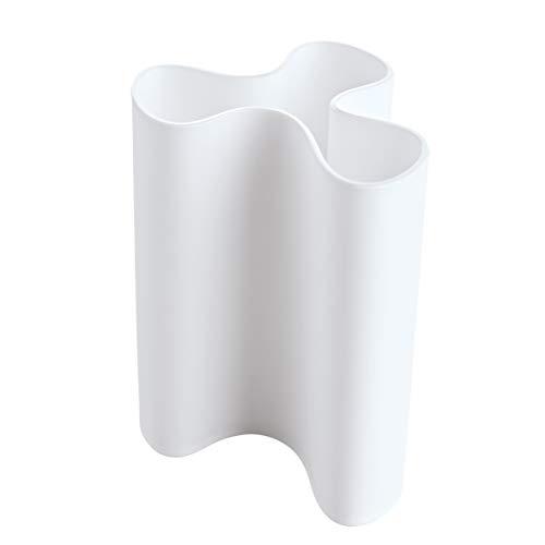 koziol Vase Clara L, Kunststoff, weiß, 11.5 x 12.5 x 16.6 cm