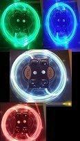 Schnürsenkel LED Set grün mit Lichteffekten! ()