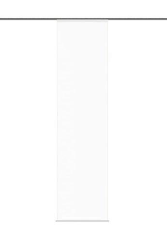 """Home fashion 87802-701 weiß Schiebevorhang """"Rom"""" Uni / 245 x 60 cm Halborganza"""