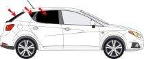 Vitres teintées SANS FILM SEAT Ibiza IV 5 portes après 2008 Art. 25014-5 Solarplexius