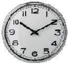 PUGG - Reloj de Pared con Marco de Acero Inoxidable