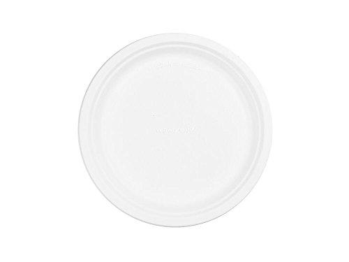 """21N3k2tudzL - Vegware P005 Bagasse plate, 10"""" (Pack of 50)"""