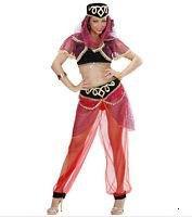 Damen Kostüm für Erwachsene, Tänzerin, orientalisch Odalisque 1001 Nacht auch für unterwegs (Größe M-L)