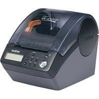 Brother QL 650TD Imprimante d'étiquettes N&B thermique directe rouleau (6,2 cm) 300 ppp jusqu'à 90 mm/sec capacité : 1 rouleaux série, USB