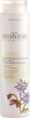 MATERNATURA - Shampoo Biologico alla Borragine - Ideale per i capelli trattati chimicamente, colorati, decolorati, con meches - Vegan, Nickel Tested