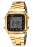 CASIO Herren-Armbanduhr Digital Quarz Edelstahl A178WG-1A