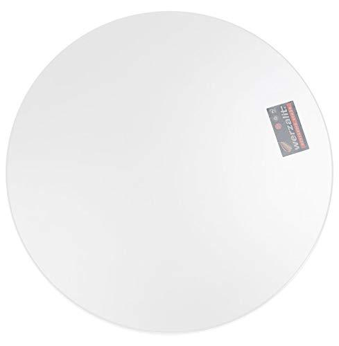 Alterego Plateau de Table 'Punto' Rond Blanc intérieur/extérieur - Ø 70 cm