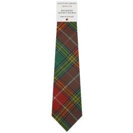 Mens Tie All Wool Made in Scotland Buchanan Old Sett Ancient Tartan