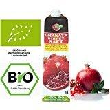 Bio Granatapfelsaft 100% Direktsaft 9 Pack (á 1 Liter), (DE-ÖKO-003) Muttersaft Kernpressung