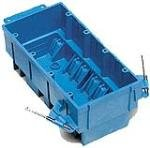 Thomas & Betts BH464A 4-Gang New Work SuperBlue Steckdose