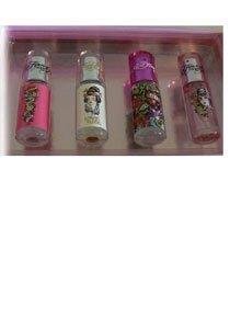 4 Piece Ed Hardy Mini Collection for Women Gift Set - 0.25 oz Ed Hardy EDP Mini + 0.25 oz Love & Luck EDP Mini + 0.25 oz Hearts & Daggers EDP Mini + 0.25 oz Born Wild EDP Mini by Christian Audigier