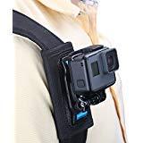 TELESIN Rucksack Schultergurt Halterung für Kamera, Klettverschluss Verstellbare Schulter Pad und Gurt Halterung Befestigungssystem für GoPro Hero/Fusion/Session, Polaroid, xiaomiyi, SJCAM