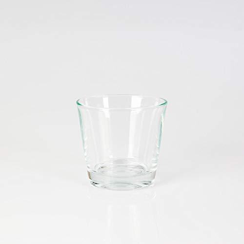 INNA Glas - Mini Vase / Photophore ALEX, en verre, transparent, 8 cm, Ø 9 cm - Verre à bougie / Petit vase en verre