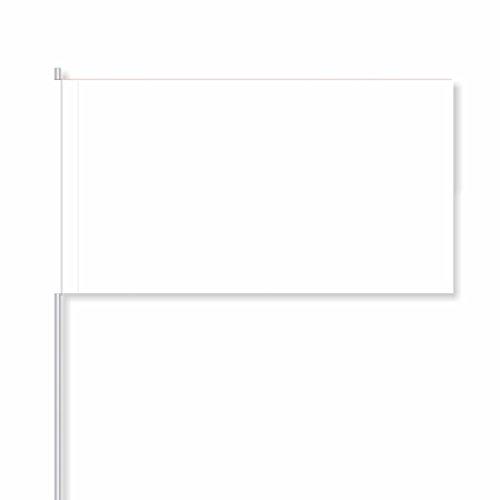 "faehnchen zum beschriften antrada Papierfähnchen ""weiߓ (50 Stück)"
