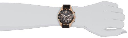 Marc Jacobs Women's 14mm Red Gold Tone Steel Bracelet Steel Case Quartz Black Dial Watch MBM2553