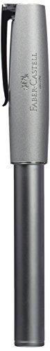 Faber-Castell 149201 - Füllfederhalter LOOM Metallic, Feder: F, Schaftfabe: silber