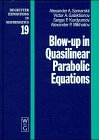 Blow-Up in Quasilinear Parabolic Equations (De Gruyter Expositions in Mathematics, Band 19)