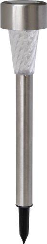 Lampe solaire en acier inoxydable avec structure en plastique, effet schrumpfverpackung, iP44, 1 x aA 1,2 v 600 mAh ni-mh, d : 46 cm, hauteur : 355 + 3,3 v blanc 1 lED de 0,06 w