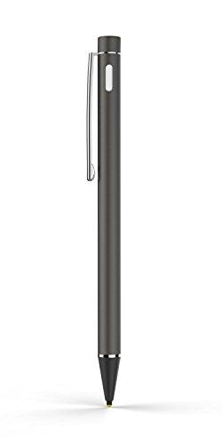 MoKo Penna Capacitiva Attiva, Punta Fine(1.8mm) Active Stylus Stilo Universale, per Schermo Touch, iOS/Android / Microsoft, iPad, iPhone, Samsung, ECC, Grigio Scuro